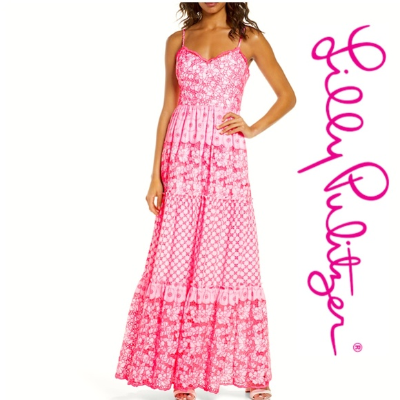 Lily Pulitzer Kyla Embroidered Maxi Dress NWT